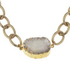 Jewelry - White Druzy Quartz Necklace