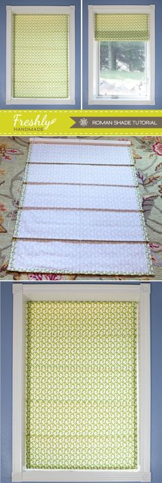 Roman Shade Tutorial - for the small amount of fabric used, you could be changing up your window decor look a few times a year! :)