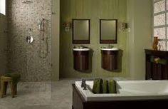 luxuriously large showers and bath tubs are all the craze in like this open shower without walls. Cutting-Edge Bathroom Design Trends for 2014 from Bathroom Bliss by Rotator Rod Bad Inspiration, Bathroom Inspiration, Bathroom Ideas, Shower Ideas, Bathroom Remodeling, Remodeling Ideas, Bathroom Showers, Bath Shower, Bath Tubs