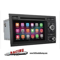 348,03€ - ENVÍO SIEMPRE GRATUITO - Consola Ordenador de a Bordo GPS DVD 2GB RAM 1024X600 Para Audi A4 S4 RS4 2002-2008 - TUTIENDARACING