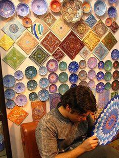 Iran ceramics art color