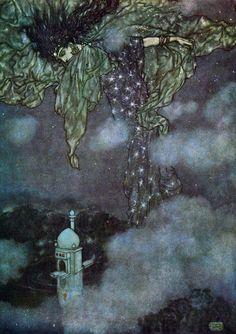 "Illustration by Edmund Dulac for ""Rubáiyát of Omar Khayyám"" (1909)"