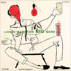 Lionel Hampton Big Band: Clef Records MG C 670: David Stone Martin illustration.