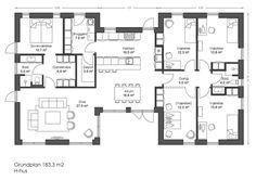 H-hus 183kvm plantegning