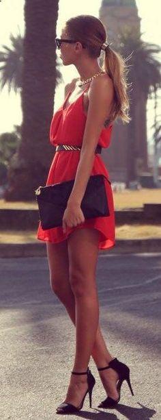 Short red dress! love it