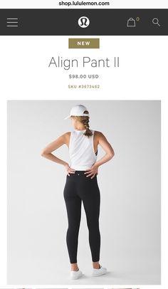 07d6a49e95ad Align Pant II black   LuluLemon.com Fitness Tøj
