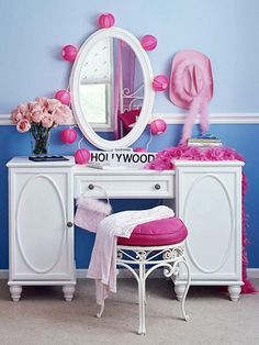 Teen girl bedrooms, jump to this plan for one surprising easy teen girl room decor, make-over number 4717725078 Teen Girl Bedrooms, Little Girl Rooms, My New Room, My Room, Creative Kids Rooms, Cute Room Ideas, Awesome Bedrooms, Home Office, Decoration