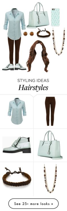 """""""Mint Chocolate Chip"""" by cats225 on Polyvore featuring Ralph Lauren Black Label, LE3NO, Acne Studios, MICHAEL Michael Kors, Casetify, Simply Vera and Gioelli Designs"""