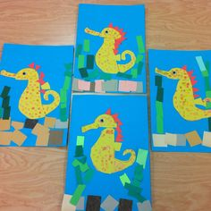 Seahorses- Kindergarten Art (art teacher: v. giannetto)