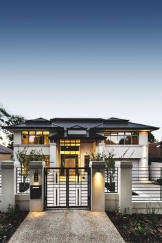 37 Stunning Contemporary House Exterior Design Ideas You Should Copy - Today, contemporary house plans are very intelligently designed to give utmost comfort to the people. These plans not only feature flexible floor spac. Style At Home, Design Exterior, Dream House Exterior, Design Case, House Goals, Home Fashion, Men's Fashion, Modern House Design, Modern Architecture