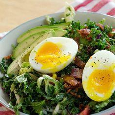 Breakfast Salad with Soft-Boiled Eggs & Avocado - Fitnessmagazine.com