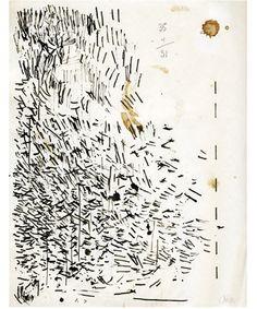 John Cage pen wipings