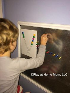 """magnetic alphabet fun from Play at Home Mom ("""",) Alphabet Phonics, Abc Activities, Pre Writing, Preschool Kindergarten, School Ideas, Discovery, Play, Mom, Learning"""