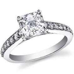 Cartier Inspired Asscher Asha & Diamond Engagement Ring