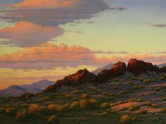 "New Mexico Landscape Painting, ""Desert Sunset"", Limited Edition Giclée Print, New Mexico, Terry Sauve, www.terrysauve.com"