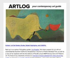 Artlog Magazine, your contemporary art guide.  #emailmarketing #emailmarketing #emailnewsletter #design #promotion #newsletter #madmimi #art #magazine #artmag
