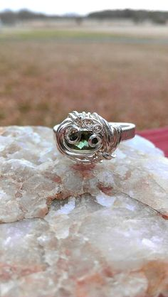 Green Tourmaline Heady Sterling Silver by KarmicSutraCreations