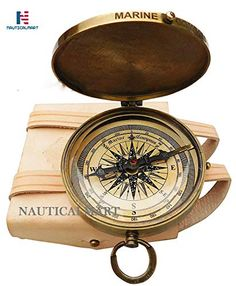 Maritime Antique Beautiful Rose London Nautical Marine Vintage Compass