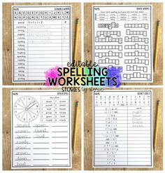 Students need time to practice their spelling words. By having a large number of activities to offer, you can avoid falling into the spelling rut! These low-prep editable spelling worksheets help students practice their words in a fun and engaging way.