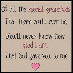 For my grandkids, and great grandkids <3