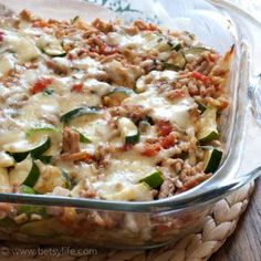 Busy? Try this Make Ahead Cheesy Zucchini and Turkey Casserole Recipe for your busiest weeknights. Easily customizable and fast to throw together.