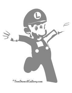 Mario Mushroom Stencil Diy Pinterest Pochoir
