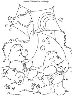 Care Bears With Kites Coloring Page Bundle This And Many Other Pages For Your Own Special Book