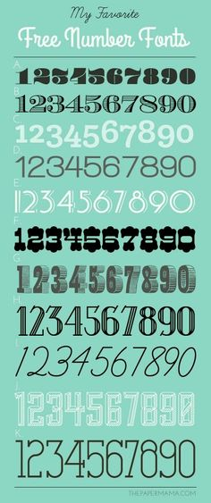 My Favorite Free Number Fonts! - Fonts - Ideas of Fonts - My Favorite Free Number Fonts! Calligraphy Fonts, Typography Fonts, Typography Design, Number Typography, Fancy Fonts, Cool Fonts, Schrift Design, Pattern Texture, Cricut Fonts