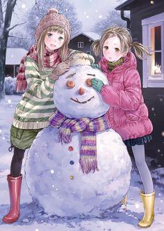 """""""Snowman"""" original illustration by Kishida Mel #Kishida Mel #anime"""