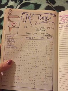 Bujo me time - photo saved from Bullet Journal Jun Bullet Journal Agenda, List Of Bullet Journal Pages, Bullet Journal Inspo, Bullet Journal Layout, My Journal, Journal Prompts, Bullet Journals, Bullet Journal Spending Tracker, Bujo