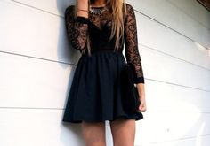 long dress long sleeves statement necklace mini dress black dress black lace dress