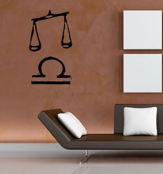 LIBRA WALL VINYL STICKER MURAL ART DECAL M180 #MuralArtDecals