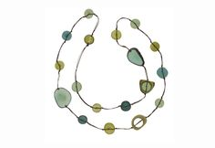 """Organic shapes of sliced tagua nut to make this Forest Pool necklace. Also known as """"vegetable ivory,"""" tagua is produced by a palm-like tree in South America. Sustainable Fashion, Sustainable Style, Gifts For Your Mom, Green Building, Organic Shapes, Is 11, Mother Day Gifts, Beads, Fair Trade"""