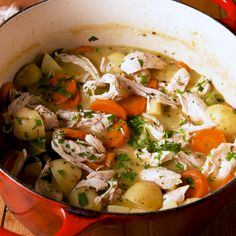 Best-Ever Chicken Stew - Recipes Archive Easy Chicken Stew, Stew Chicken Recipe, Chicken Recipes, Chicken Potato Soup, Stewed Chicken, Homemade Chicken Soup, Chicken Soups, Chicken Chili, Rotisserie Chicken
