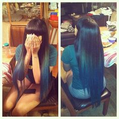 chinese bang sew in ombre - Google Search