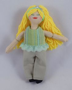Dress Up Doll  Blonde Doll  Toy Doll by JoellesDolls on Etsy