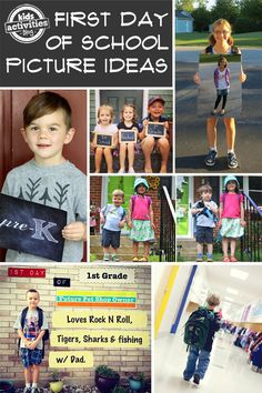 15 Ideas for Adorable First Day of School Pictures