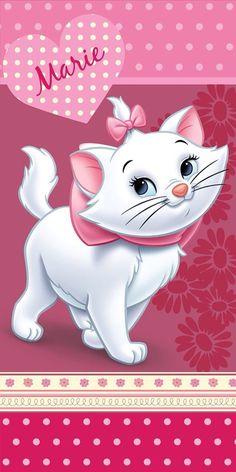 Disney Aristocats - Strandlaken - 75 x 150 cm - Rose Gatos Disney, Disney Cats, Disney Cartoons, Disney Phone Wallpaper, Cat Wallpaper, Cute Wallpaper Backgrounds, Arte Disney, Disney Pixar, Disney Dream
