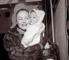 Gene Tierney and daughter Daria