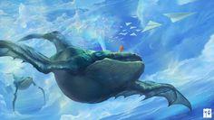 dragon baleine