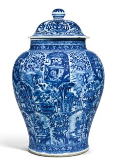 A BLUE AND WHITE 'LADIES' JAR AND COVER QING DYNASTY, KANGXI PERIOD - Sothebys