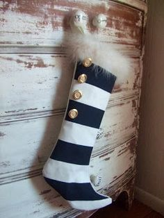 modern christmas stockings - Google Search Make our own stockings, this with a few more details.