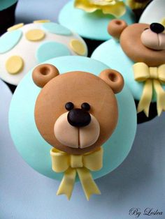 bear cupcake toppers