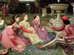 Six Centuries Later, The Decameron Is Suddenly the Book of the Moment — Vogue Renaissance Time, Renaissance Fashion, Italian Renaissance, John William Waterhouse, The Decameron, Unicorn Tapestries, Reading Groups, Pre Raphaelite, All Art
