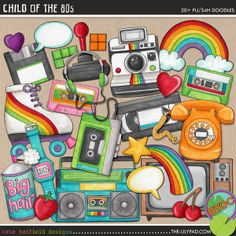 The Lilypad :: ELEMENT PACKS :: DOODLES :: Child of the 80's