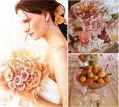 Peach centrepiece