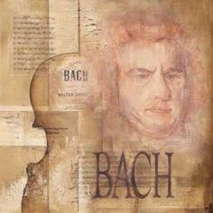 A tribute to Bach Canvas Art - Marie-Louise Oudkerk (24 x 24)