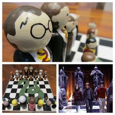 Harry Potter craft: make a chess set.
