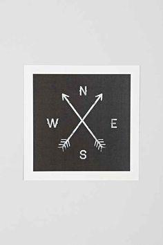 Zach Terrell Compass Art Print - Urban Outfitters