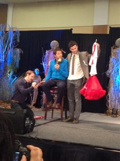 Richard Speight Jr. Paints Misha's Nails on His Other Hand While Matt Auctions the Cheerleader Skirt at BurCon 2013